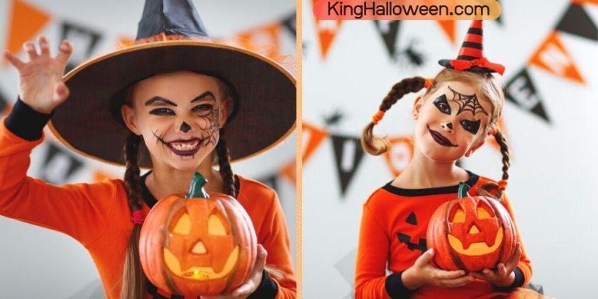 Halloween Spiderweb makeup on face