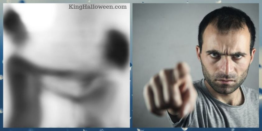 Scary Riddles Man Pointing