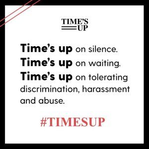 Time's up text