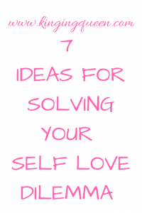 Picture with inscription 7 ideas for Self Love