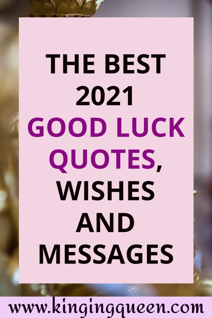 Good luck quotes