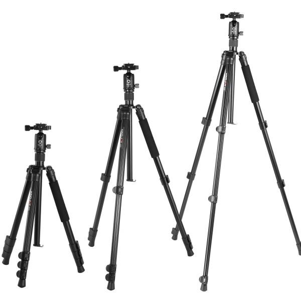 KINGJOY professional universal camera aluminum alloy tripod with ball head for DSLR camera video phone