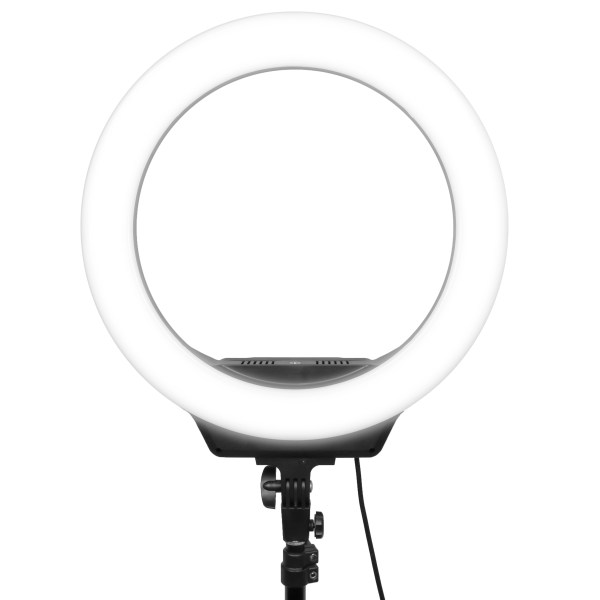 AFI 16 inch 18650 Battery Operated Rechargeable beauty studio led ring light R216 with mobile phone holder and Tripod Stand