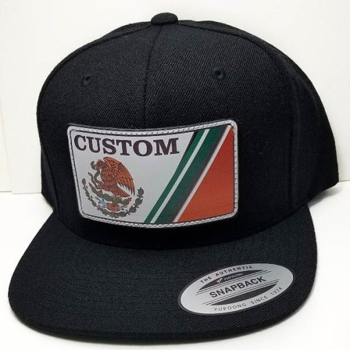 MEXICO License Plate Hat (CUSTOM NAME PATCH)