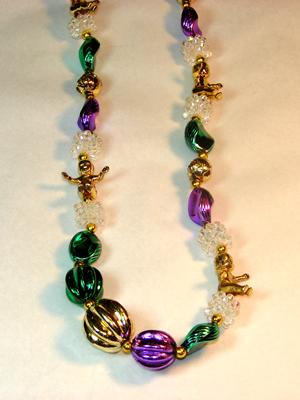 King Cake baby beads