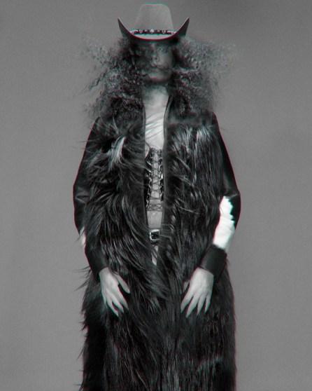 Cowboy hat - stylist's own | Fur coat - MaryMe JimmyPaul | Corset - Vintage @ Episode | Belt Stylist Own