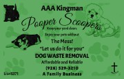 AAA Kingman Pooper Scoopers Pet Waste Removal Services