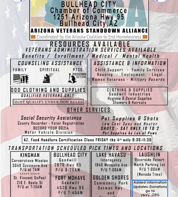 2016 Mohave County Veterans Stand Down