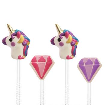 placa unicornio y diamante