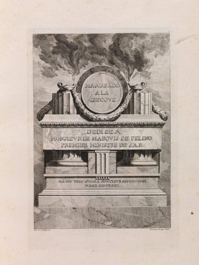 Mascarade a la Grecque, XVIII c