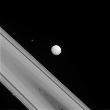 Image take by the unmanned spacecraft Cassini