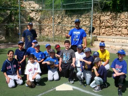 Kids at Kraft Field in Jerusalem during Passover.