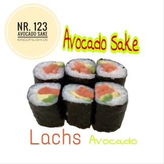 123 Avocado Sake Avocado & Lachs