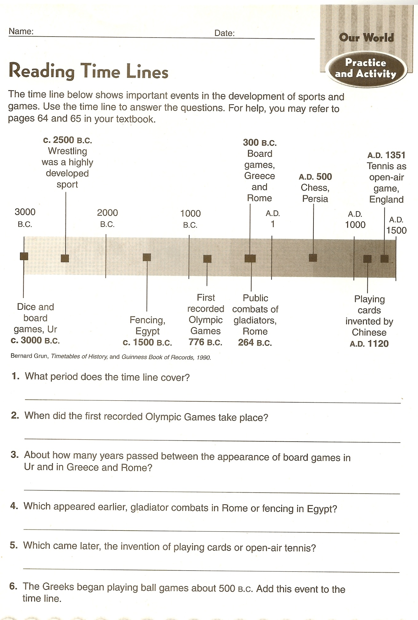 Egyptian Worksheet For 8th Grade