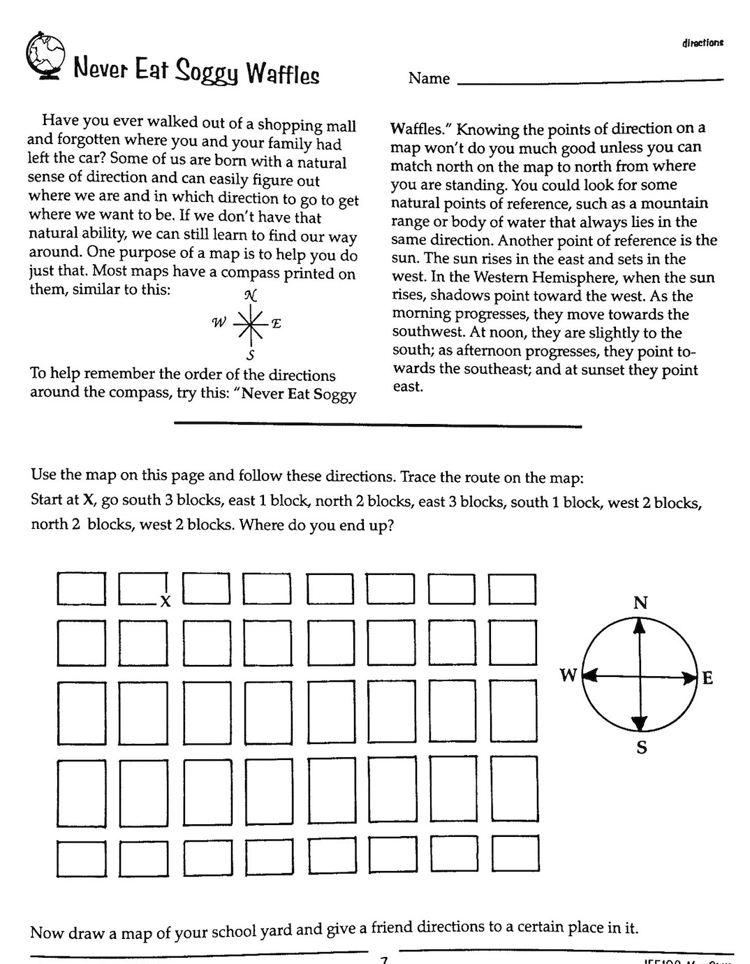 Worksheet Cardinal Directions Worksheet Worksheet Fun Worksheet Study Site