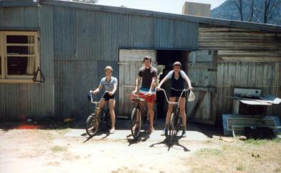 c1984 - Camp dining room looking West L-R Shane Beach, Eddie Hampton, Robert Crowe