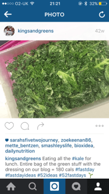 kale salad bag