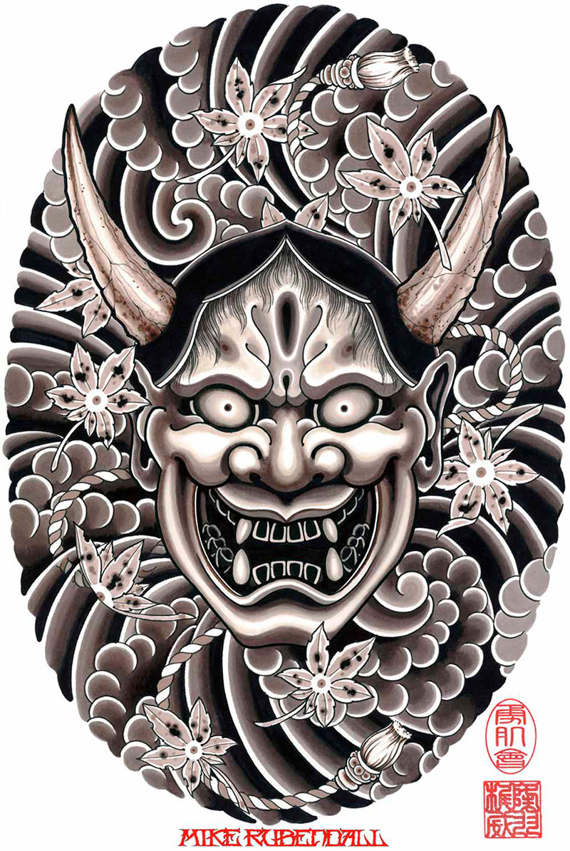 Mike Rubendall Hannya Tattoo