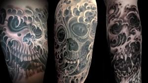 Water Skull Tattoo