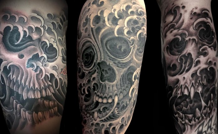 Water Skull Tattoo