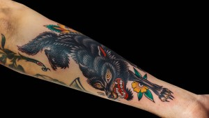 Becca Genné-Bacon Wolf Tattoo