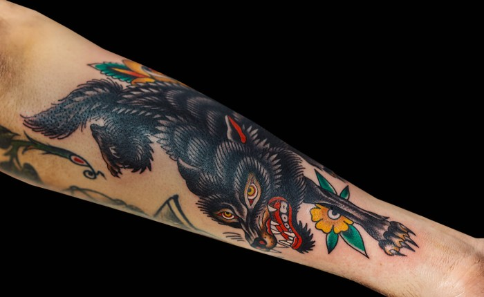 Becca Genné-Bacon Wolf Tattoo