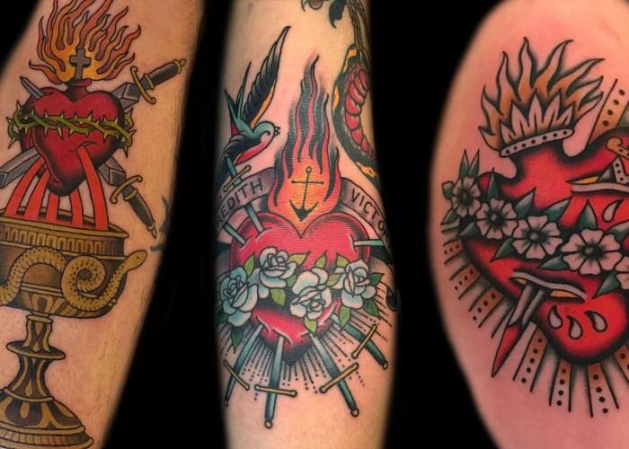 Sacred Heart Tattoo Ideas