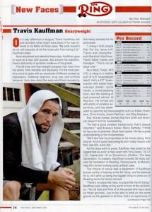 Travis Kauffman Featured in Ring Magazine