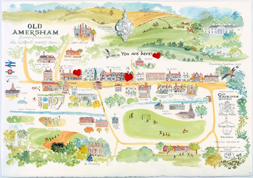 New map from Kings Chapel Website