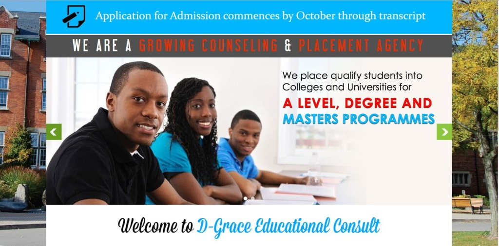 D-Grace Educational Consult is a relatively fast growing counseling and placement company which is being managed by seasoned and well experienced management. Visit website