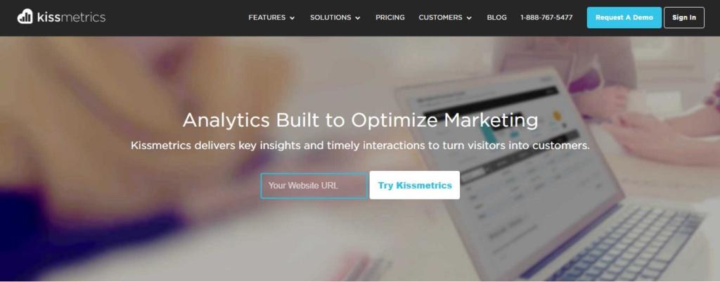 Kissmetrics Homepage