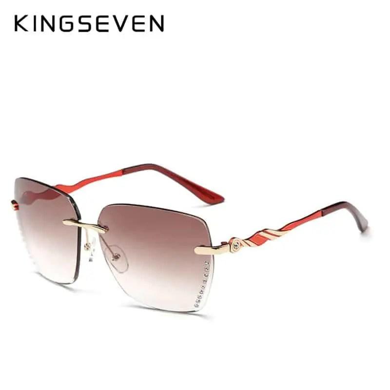 KINGSEVEN Sunglasses Women New Rimless Colorful Glasses Women Brand ...