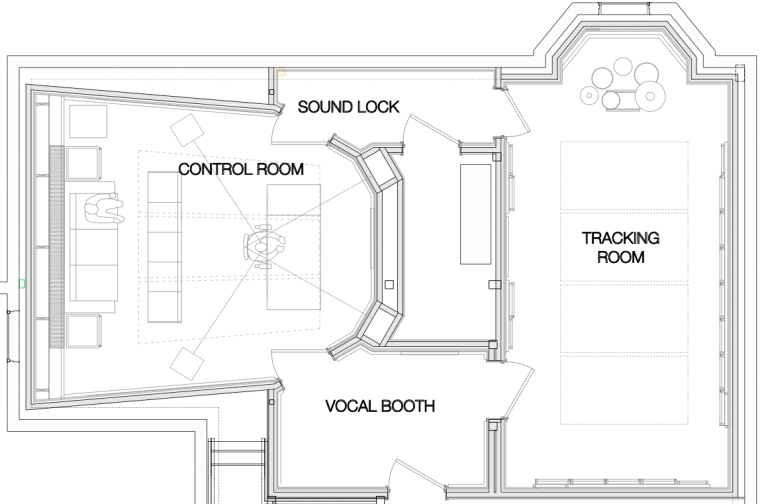 Recording Studio Floor Plan