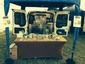 van set up at Rovin Fest