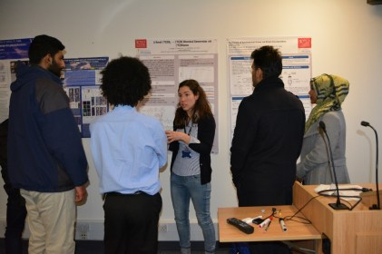 Poster session with current PhD student