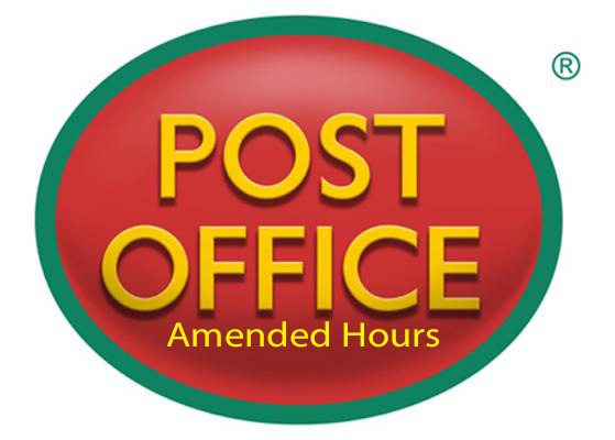 Post Office Hours Monday 3rd December Kingsley Village Hall