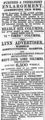 1897 Aug 6th Lynn Advertiser @ Nos 1 to 4 (01)