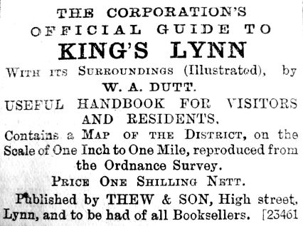 1906 June 8th Thews Lynn Guide