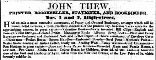1842 Feb 1st John Thew @ 1 & 2
