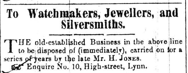 1852 Sept 11th Selling off late Hart Jones
