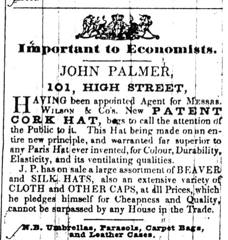 1843 March 14th John Palmer
