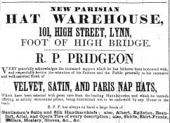 1850 May 25th R P Pridgeon