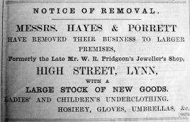 1900 Dec 7th Hayes & Porrett ex Pridgeons