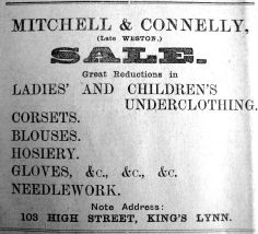 1913 Jan 17th Mitchell & Connelly take over