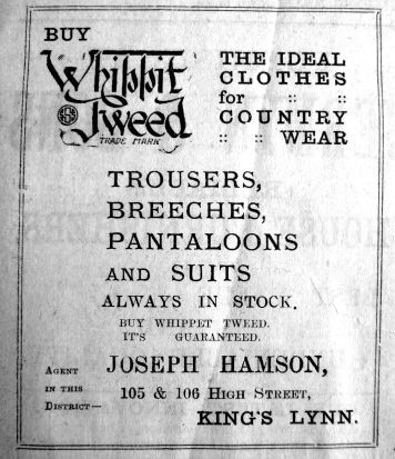1922 Oct 13th Hamsons Whippet Tweed