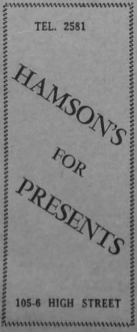 1951 Nov 23rd Hamson