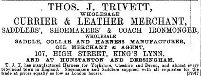 1889 Nov 23rd Tho Trivett @ 107