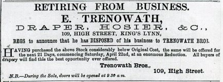 1882 6th May Edward Trenowath retiring @ No 109011