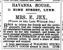 1893 July 1st Mrs E Jex @ No 11 (2)