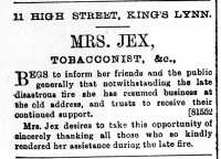 1897 Dec 31st Mrs Jex @ No 11 copy